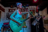 Little Red Records Artist Marjory Lee at Sandbar Key west by Larry Blackburn