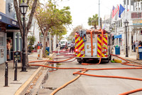 Tragedy Averted / Old Town Fire at 715 & 717 Duval Street by Larry Blackburn