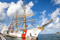 USCG Tall Ship Eagle by Larry Blackburn